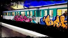 Graffiti DARM + Paris Metro Ligne 12 (Erder Wanderer) Tags: yale emc parisboogienight metro subway graffiti graffitiporn vandal vandalisme vandalismus paintedtrains painted panel backjump ligne12 paris trainwriting trainbombing spraypaint illegalart style lettrage letters ehc