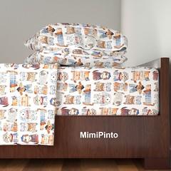 mimipinto designs (MimiPintoArt) Tags: bedroom bedding sheets homedecor fabric textiles surface pattern design interiors dogs cute diy craft nursery kids children