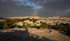 Morning View (music_man800) Tags: athens greece city capital hellenic europe areopagus hill acropolis path road viewpoint view overlook scene scenery scenic spectacilar lighting contrast light natural outdoor outside walk hike holiday september 2018 sun cloud vacation rooftops skyline pretty colours canon 700d adobe lightroom creative edit photography landscape urban buildings rooftop houses old trees