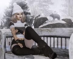Thoughts (desiredarkrose) Tags: deaddollz winter winterland bigbeautifuldoll dahlia runawayhair stockings socks short slblog wetcat blogging secondlifefashion secondlifephotography ncore