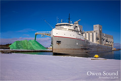 Cuyahoga (ROHphotos.) Tags: crap selfunloading frieghter laker randyohara rohphotos owensound harbour snow white