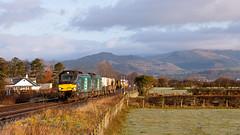 Chills & Hills (Richie B.) Tags: underhill millom cumbria 6c53 drs direct rail services vossloh caterpillar class 68 68018 68016 nuclear flask fna 2c42