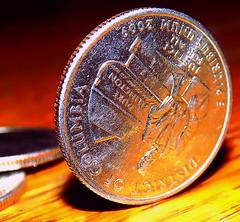 "No Trick, just Balance   ""Macro Mondays"" (marieschubert1) Tags: money coin silver edge quarter us dollar currency trick magic ""macro mondays"" balance"