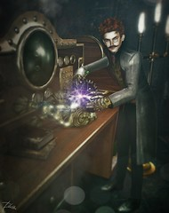 Steampunked Portrait of Azriel Nostram (Dita *is Catching Up* Actor) Tags: o