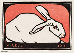 Lying rabbit (1916) byJulie de Graag (1877-1924). Original from The Rijksmuseum . Digitally enhanced by rawpixel. (Free Public Domain Illustrations by rawpixel) Tags: madepsd madevector animal antique art artwork drawing handdrawn illustrated illustration illustrator juliedegraag lying lyingrabbit old pdrijks publicdomain rabbit rijksmuseum sketch stamp vintage woodcut