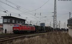 232 654 Nordhausen Bf 05.02.2019 (Falk Hoffmann) Tags: diesellok eisenbahn bahnhof güterzug ludmilla dbcargo dbschenker br232 br132