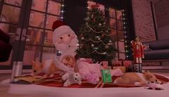 Waiting For Santa (Serena Reins) Tags: confession photography poses secondlife second life toddleedoo toddler baby cute adorable aww santa christmas tree presents sleepy sneeky half deer corgi