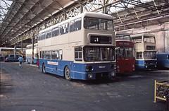 WMT 6402, Selly Oak Garage, Birmingham (Lady Wulfrun) Tags: ribble leopard tck465 westmidlands fleetline travel pte wmpte 6402 noc402r