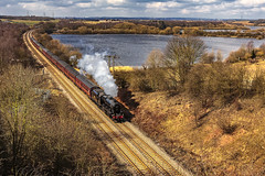 Mainline_2013_04_03_017a (Phil_the_photter) Tags: steam steamengine steamloco steamrailway coltonjunction fairburnings 8f 48151 yorkshire yorkshirecoastexpress
