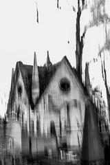 BIENVENUE DANS LA MAISON HANTEE (zventure,) Tags: zventure noiretblanc paris cimetiere arbre arbres monochrome maison tombe