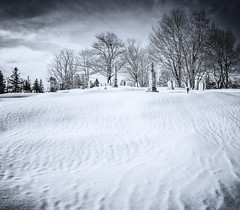 Cemetery in the snow & cold... - Tenants Harbor Maine (Jonmikel & Kat-YSNP) Tags: snow winter cemetery graves