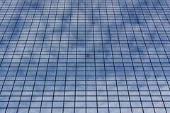 Lines and clouds (Jan van der Wolf) Tags: map19288v contrast lines playoflines interplayoflines lijnen lijnenspel clouds wolken facade gevel windows architecture architectuur rotterdam delftsepoort repetition herhaling patroon pattern reflection spiegeling geometric geometry geometrisch geometrie