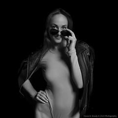 Anastasia-1458 (Dana Brady) Tags: monochrome blackwhite blackandwhite blackwhitebw nikon nikond7100 sassy sunglasses leather jacket bodysuit