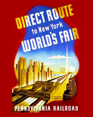 Off to the New York World's Fair -- 1939 (JFGryphon) Tags: pennsylvaniarailroad 1846 1882 1939 largestrailroadintheworld 39newyorkworldsfair newyorkworldsfair pennsylvaniastation railroad passengertrain halcyondays idealizedvision travel