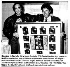 Neil Diamond Lifetime Achievement Award in Australia 1992 (musicloverdiamond) Tags: neildiamond australia 1992 award