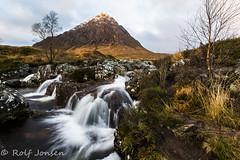 Buachaille Etive Mòr (rjonsen) Tags: river waster sunrise munro mountain glencoe stream motion blur water rannoch moor shadow sunlight