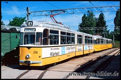 214-2000-06-02-1-Betriebshof (steffenhege) Tags: thüringerwaldbahn gotha überlandbahn strasenbahn streetcar tram tramway gothagelenkwagen gelenkwagen gothawagen g4 214