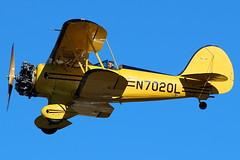 N7020L - Waco YMF-5 (AndrewC75) Tags: airport airplane aircraft aviation general cobb county mccollum field kennesaw ryy kryy waco ymf ymf5 biplane radial engine yellow wacf