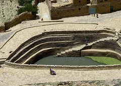 Water Cistern In Hababa, Yemen (Eric Lafforgue) Tags: arabia arabiafelix arabianpeninsula architectural architecture cistern colourpicture day drinkingwater drought highangleview historical history horizontal placeofinterest pool stairs step water yemen img1669 hababa