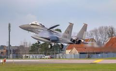 LN AF 91 326 (cjf3 - f15tog) Tags: usaf usaflakenheath fastjet topgun f15e f15estrikeeagle crew airbrake runway canon 7dmk2 48thfighterwing 494thfightersquadron