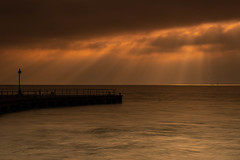 Essex Shoeburyness (daveknight1946) Tags: essex shoeburyness southend pier bargepier sunrays sea water river riverthames clouds