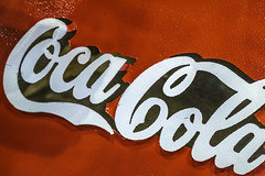 Coco-Cola Classic MEtal Sign (Mabry Campbell) Tags: americana harriscounty houston texas usa antique brand cocacola drink image logo metal photo photograph red sign f90 mabrycampbell march 2019 march72019 20190307houstoncampbellh6a4311 100mm ¹⁄₈₀sec 5000 ef100mmf28lmacroisusm