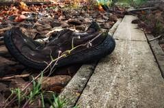 Old shoe... (hobbit68) Tags: shoe 👞 schuhe fujifilm xt2 lost places old alt stein stone industry industriegebiet industrie frankfurt ostpark