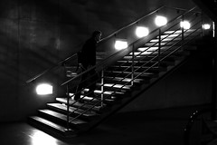 On the lit marches (pascalcolin1) Tags: paris homme man dark sombre escalier marches lumière light ombres shadows photoderue streetview urbanarte noiretblanc blackandwhite photopascalcolin 5omm canon50mm canon stair