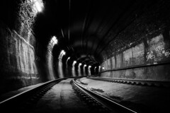Rails (nocturnal.visions) Tags: live rail nsw railways train tunnels trespassing urban exploring explore underground black and white monochrome photography canon 70d light australia trains traintunnels brick