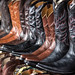 Closeup of Brown and Black Boots