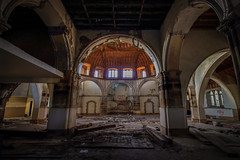 (k_a_t_i_a) Tags: urbex abandonedplaces religion beautyindecay church canon architecture peelingpaint stainedglass ruin derelict