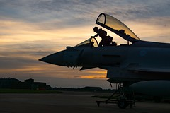 Night sortie (cliffwilliams449) Tags: rafconningsby typhoon tiffie royalairforce night cockpit pilot sunset aircraft photograph cliffwilliams photography sonya77mkii