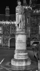 Duke of Bedford Tavistock (Jonathan Goddard1) Tags: pentax k1 fullframe plymouth devon westcountry dartmoor tavistock night nocturnal monochrome blackandwhite bnw monument memorial statue