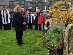 Paying my respects to our fallen at Lidget Green Remembrance Garden