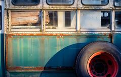 repurposed (jtr27) Tags: dscf2836xl jtr27 fuji fujifilm xe2s minolta md 28mm f28 manualfocus mdiii old abandoned bus rust