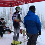 Teck Sun Peaks Euan Currie in the start gate TECK Open GS