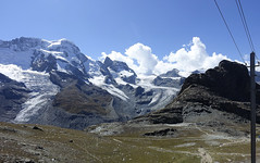 D20003.  From the Gornergratbahn. (Ron Fisher) Tags: schweiz suisse svizzera switzerland kantonwallis valais cantonvallese europa europe zermatt mountain snow glacier gletcher diealpen thealps swissalps alpessuisses schweizeralpen alpisvizzere sony sonyrx100iii sonyrx100m3 compactcamera