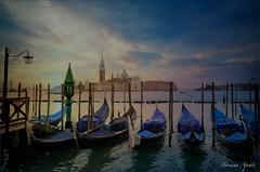 Venezia, febbraio 2015 (adrianaaprati) Tags: venice 2015 winter gondolas sky lagoon clouds panorama