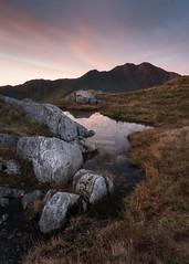Snowdon Sunrise (Photo Lab by Ross Farnham) Tags: light reflection water rocks landscape rossfarnham mountain sunrise a7rii sony snowdon wales