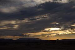 sunset on the mesa