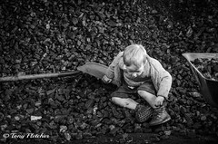 'JUDE IN THE COAL HEAP' (tonyfletcher) Tags: papplewickpumpingstation1940s papplewickpumpingstation tonyfletcher wwwtonyfletcherphotographycouk wwwwhitbygothscenecouk 1940sevent portraits 40s homefront ww2
