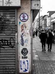colours of Oldham Street 2 (PDKImages) Tags: dmstff ripartist manchesterstreetart manchester streetart urbanart walls pasteup coloursplash contrasts