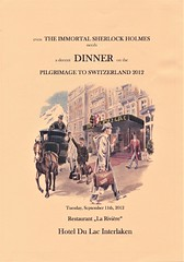 The dinner menu for the 11th September, with a special illustration by Philip Cornell