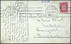 postkort (Avtrykket) Tags: frimerke posthorn postkort poststempel risør austagder norway
