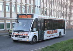 Mulleys Motorways . Ixworth , Suffolk . MX57HDH . Bury St Edmonds Bus Station , Suffolk . Wednesday 12th-December-2018 . (AndrewHA's) Tags: suffolk burystedmunds bus mulleys motorways ixworth optare solo m950 mx57hdh circular route m 44 second hand kent county council