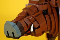 wild_boar_03 (kaba_and_son) Tags: 干支 レゴ lego boar 猪 いのしし イノシシ