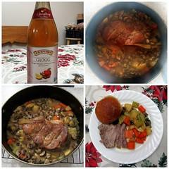 Solstice Dinner, 2017 (genesee_metcalfs) Tags: collage december winter food dinner solstice pork roast glogg veggies