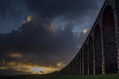 Ribblehead_10 (julesh1966@googlemail.com) Tags: ribbleheadviaduct northyorkshire yorkshiredales sunrise clouds railway landscape grassland ingleborough colour autumn ariel drone