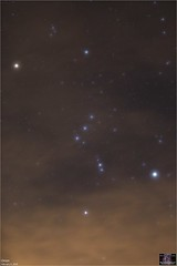 Colorful Orion Behind High Clouds (The Dark Side Observatory) Tags: tomwildoner canon canon6d tripod orion february 2019 widefield clouds betelgeuse rigel constellation night nightsky universe outerspace astronomy astrophotography astronomer tdsobservatory observatory weatherly pennsylvania carboncounty