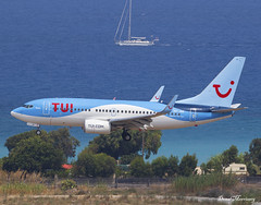 TUI Fly Belgium 737-700 OO-JAR (birrlad) Tags: rhodes rho international airport greece aircraft aviation airplane airplanes airline airliner airlines airways arrival arriving approach finals landing runway sea tuifly tui boeing b737 737 737700 7377k5 oojar